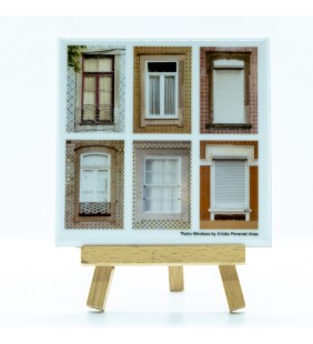 Ceramic tile with images of 6 Porto windows 10cm*10cm