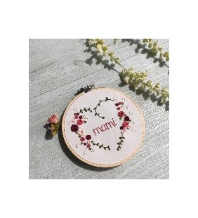 Customizable Embroidery Heart with Roses