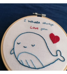 "Embroidery ""I Whale Always Love you"""