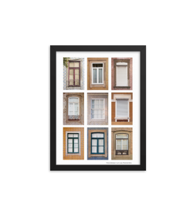 Print A4 Photograph of Porto Window